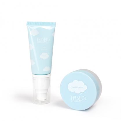 【雲朵柔焦底妝】雲朵保濕潤色隔離霜X輕透持妝粉