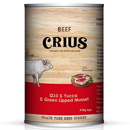 克瑞斯 無榖犬用主食餐罐 (風味牛)
