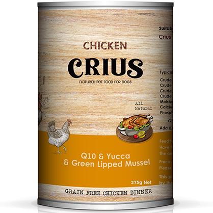 克瑞斯 無榖犬用主食餐罐 (放養雞)