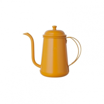 Kalita 不銹鋼霓彩細口手沖壺 0.7L 黃色