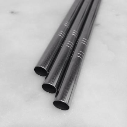 QC館 食品級 不鏽鋼 Q粗 直吸管 SUS 304L