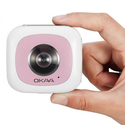 亞果元素 360° 全景相機黑 OKAA LIFE VR (粉色)