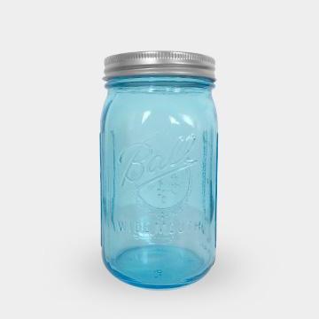 Ball 梅森罐 32oz 寬口藍色
