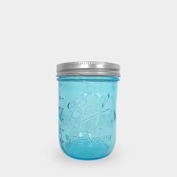 Ball 梅森罐 16oz 藍色寬口