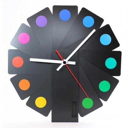 Transformer時鐘 (黑色扇葉/彩色斑點)