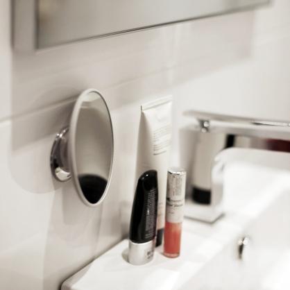 瑞典 BOSIGN 五倍放大 拆卸式化妝鏡 (經典銀)