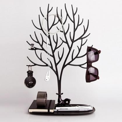Qualy 森林鹿角L 飾品架 (黑)