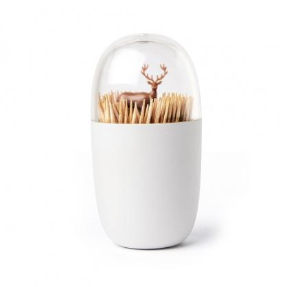Qualy 牙籤罐 (草原馴鹿)