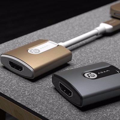 CASA HDMI 轉接器 H01 USB Type-C (灰/金)