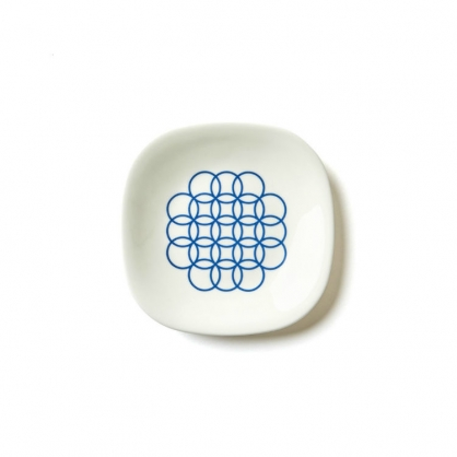 TZULAi 厝內 老磁磚系列 圈圈輕食盤 6吋