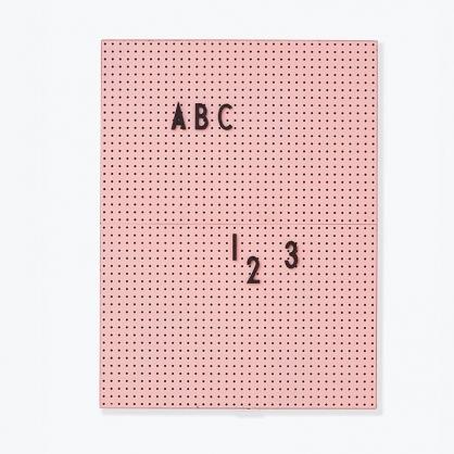 DESIGN LETTERS 設計字母板 (粉色A4板+黑字母)
