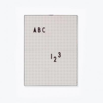 DESIGN LETTERS 設計字母板 (灰色A4板+黑字母)