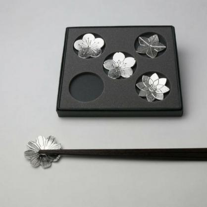 NOUSAKU 能作 100%純錫 有花堪折筷架