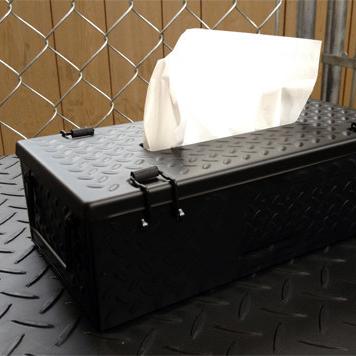 checker plate 工業風面紙鐵盒 ( 黑色 )