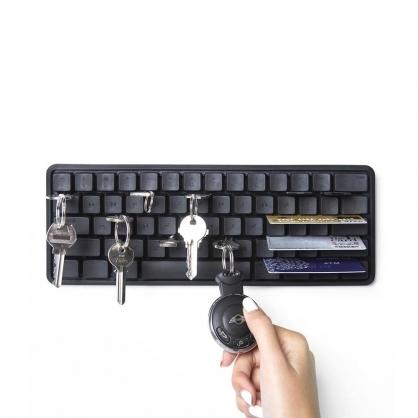 Qualy 鍵盤壁掛 鑰匙收納架 (黑)