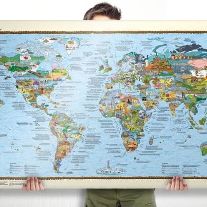 Bucketlist 世界地圖 (滑雪版)
