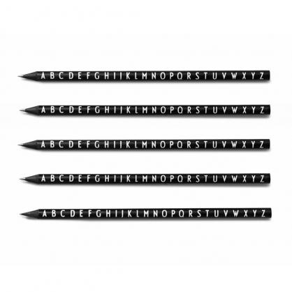 DESIGN LETTERS 質感字母鉛筆 黑(五入)