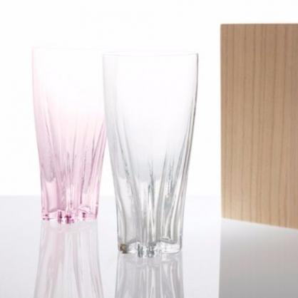 100% 櫻花玻璃杯2入組 SAKURASAKU glass(380 cc)