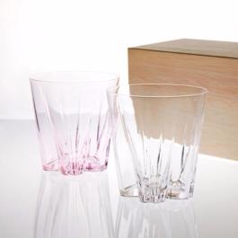 100% 櫻花玻璃杯2入組 SAKURASAKU glass(260 cc)