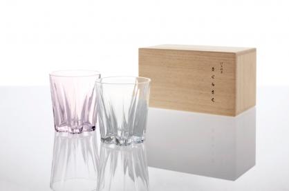 100% 櫻花玻璃杯2入組 SAKURASAKU glass(80 cc)