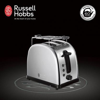 英國羅素 Russell Hobbs Legacy 晶亮烤麵包機(晶亮銀)