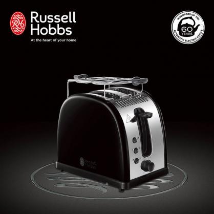 英國羅素 Russell Hobbs Legacy 晶亮烤麵包機(晶亮黑)