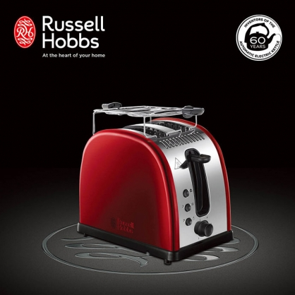 英國羅素 Russell Hobbs Legacy 晶亮烤麵包機(晶亮紅)