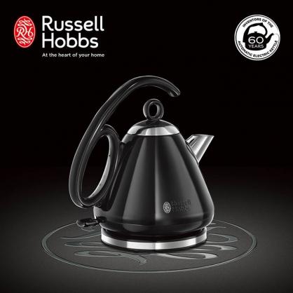 英國羅素 Russell Hobbs 晶亮快煮壺(晶亮黑)