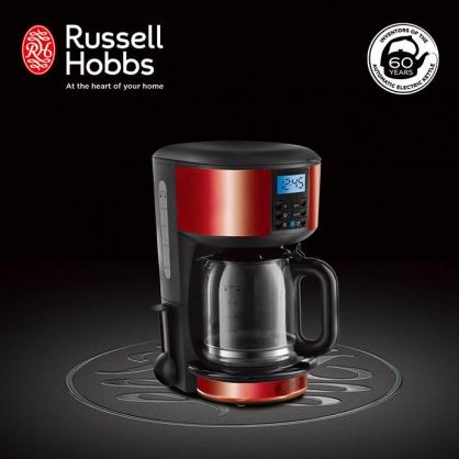 英國Russell Hobbs Legacy 晶亮咖啡機(晶亮紅)