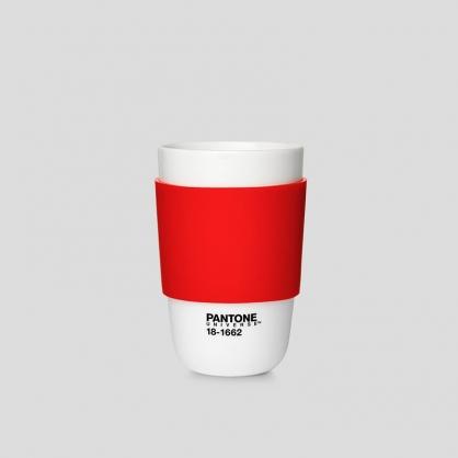 Pantone 色票經典隔熱杯 (熱情紅)