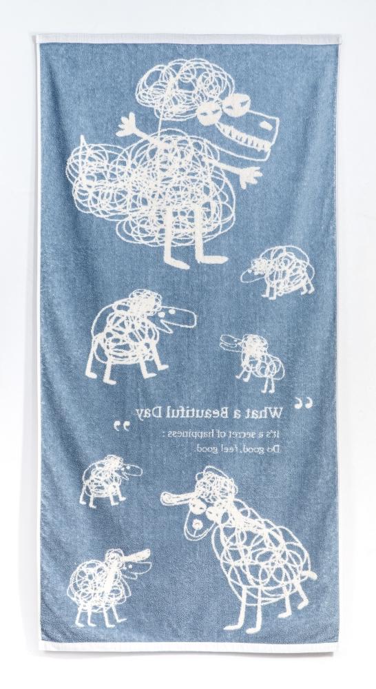 cindymode 浴巾WABD (6隻小羊與大野狼)