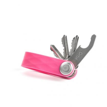 Orbitkey 整齊收納 鑰匙圈(矽膠款,粉桃紅)