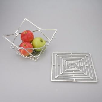 NOUSAKU 能作 100%純錫 任意變形置物籃(方形 M)