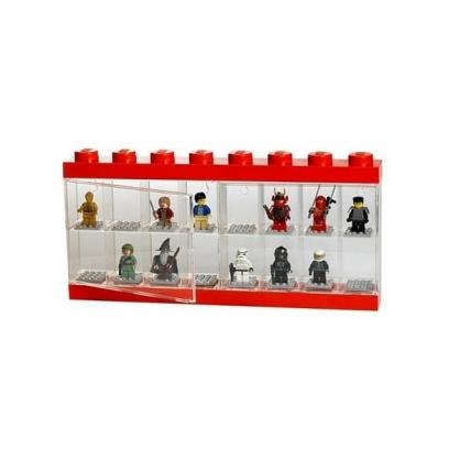 LEGO® 16格模型人展示盒 (紅色)