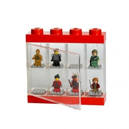 LEGO® 8格模型人展示盒 (紅色)