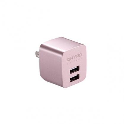 ONPRO 雙輸出極速充電器 UC-2P01 限量金屬色 (玫瑰金)