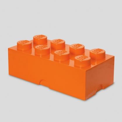 LEGO®放大版 樂高收納箱8凸 (元氣橘)