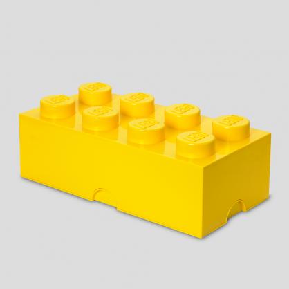 LEGO® 放大版樂高收納箱8凸 (樂高黃)