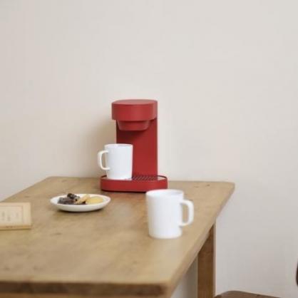±0 深澤直人 雙人咖啡機(紅色)