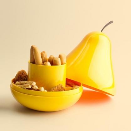 Qualy 西洋梨置物盒 黃