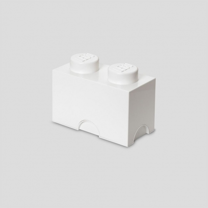 LEGO® 放大版樂高收納箱2凸 (樂高白)