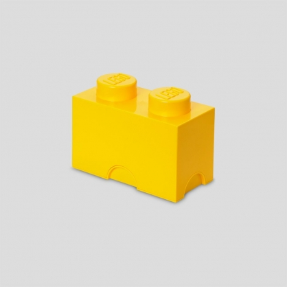 LEGO® 放大版樂高收納箱2凸 (樂高黃)