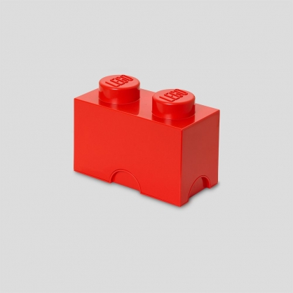 LEGO® 放大版樂高收納箱2凸 (樂高紅)