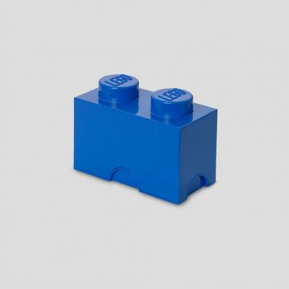 LEGO® 放大版樂高收納箱2凸 (樂高藍)