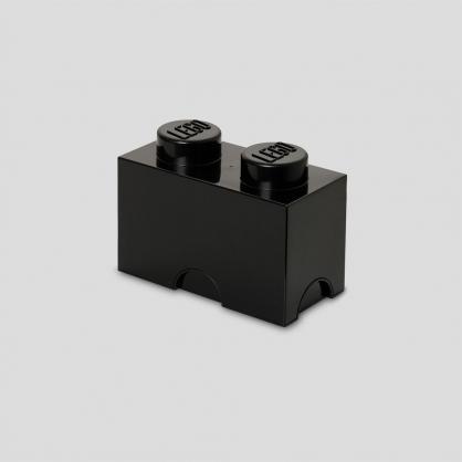 LEGO® 放大版樂高收納箱2凸 (黑色)