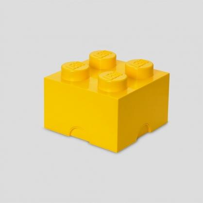LEGO® 放大版樂高收納箱4凸 (樂高黃)