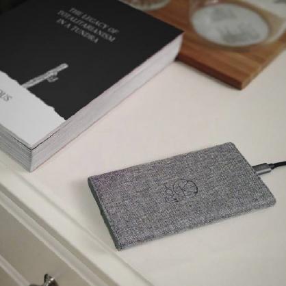 HOMI FabricDock 時尚亞麻無線充電板 qi (雅痞灰)