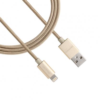 ONPRO 金屬質感 Lightning 充電傳輸線 UC-MFIM (香檳金 1M)