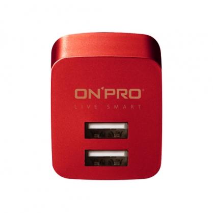 ONPRO 雙輸出極速充電器 UC-2P01 限量金屬色 (可樂紅)