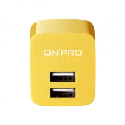 ONPRO 雙輸出極速充電器 UC-2P01 (芒果黃)